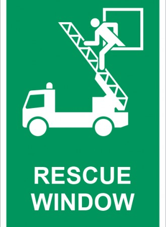 Rescue window sign