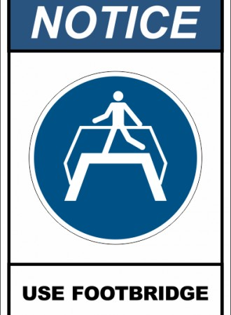 Use footbridge sign