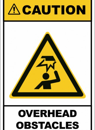 Overhead obstacles sign
