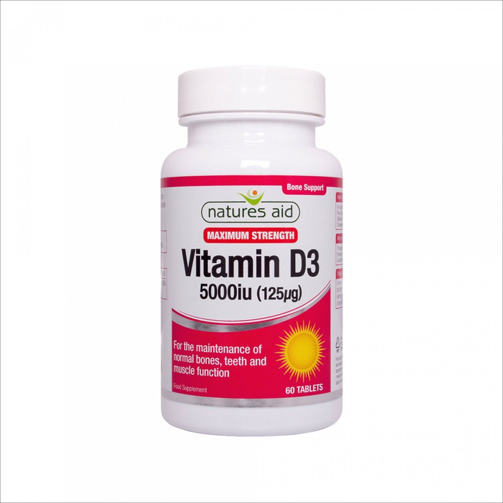 VITAMIN D3 5000 IU, 60 TABLETS