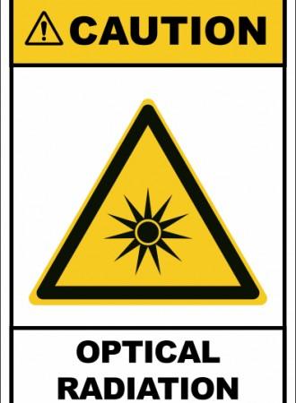 Optical radiation sign
