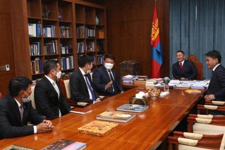 Монгол Улсын Ерөнхийлөгч Х.Баттулга МҮОХ-ны удирдлагуудыг хүлээн авч уулзлаа