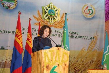 Монгол Улсын Ерөнхийлөгчийн зарлигаар Сэлэнгэ аймгийн Түшиг сумыг Алтан гадас одонгоор шагналаа