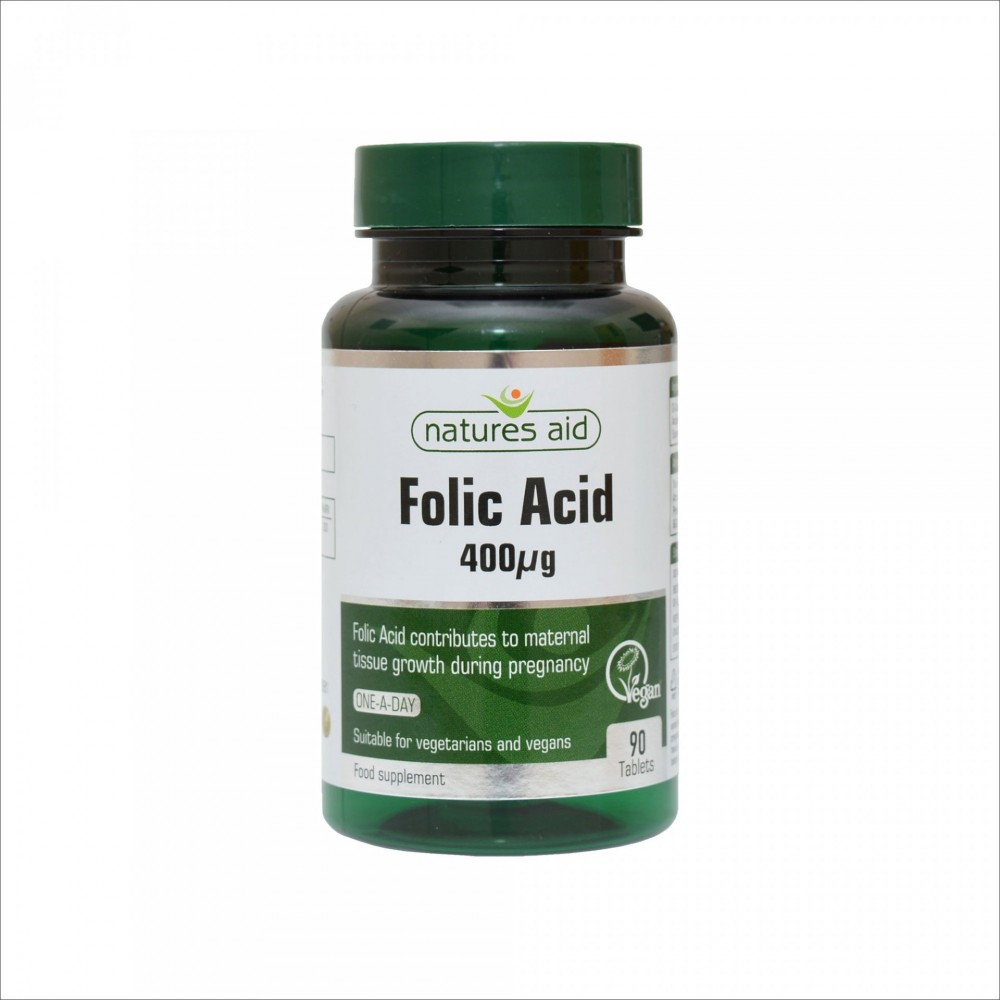 FOLIC ACID 400 MG, 90 TABLETS
