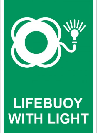 Lifebuoy with light sign