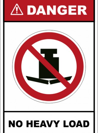 No heavy load sign