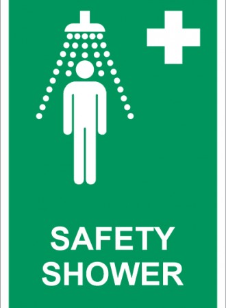 Safety shower sign