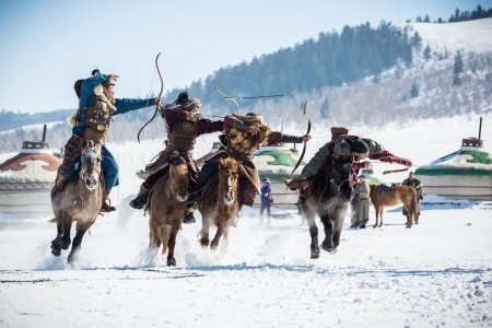 Das Eis Festival in der Mongolei.