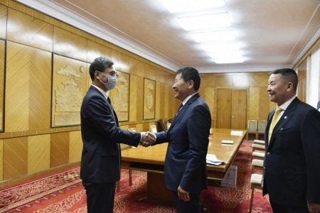 УИХ-ын гишүүн Ш.Адьшаа, Б.Дэлгэрсайхан нар БНХАУ-аас Монгол улсад суугаа элчин сайд Чай Вэньруйтай уулзлаа