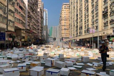 Хонконгод гурав дахь өдрөө дараалан хотын тээвэр гацаанд оржээ