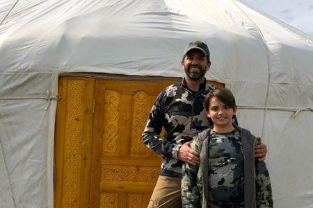 Donald Trump's eldest son has traveled trough Mongolia.