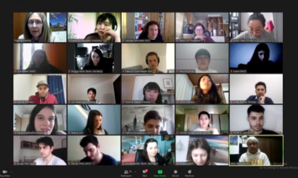 """Мандах их сургуулийн оюутнууд Японы Тохоку их сургуулиас зохион байгуулж буй """"Дэлхийг холбоно"""" онлайн арга хэмжээнд амжилттай оролцож байна"""