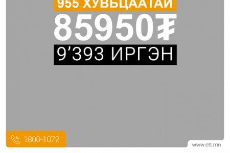 ЭТТ: Та 955 ширхэг хувьцаатай бол 85.950 төгрөгийн ногдол ашиг авна