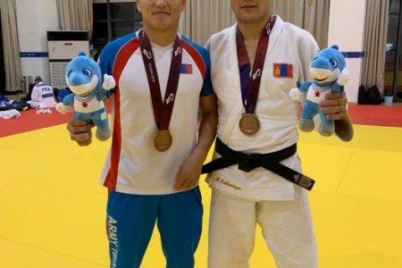 Жүдочид Дэлхийн цэргийн спортын VII наадмаас хоёр хүрэл медаль хүртээд байна
