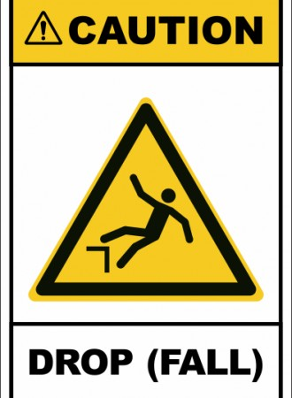 Drop (fall) sign