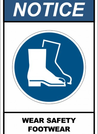 Wear safety footwear sign