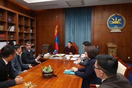 Монгол Улсын Ерөнхийлөгч Х.Баттулга олон улсын 3х3 сагсан бөмбөгийн холбооны захирлыг хүлээн авч уулзав