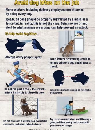 Avoid dog bites on the job