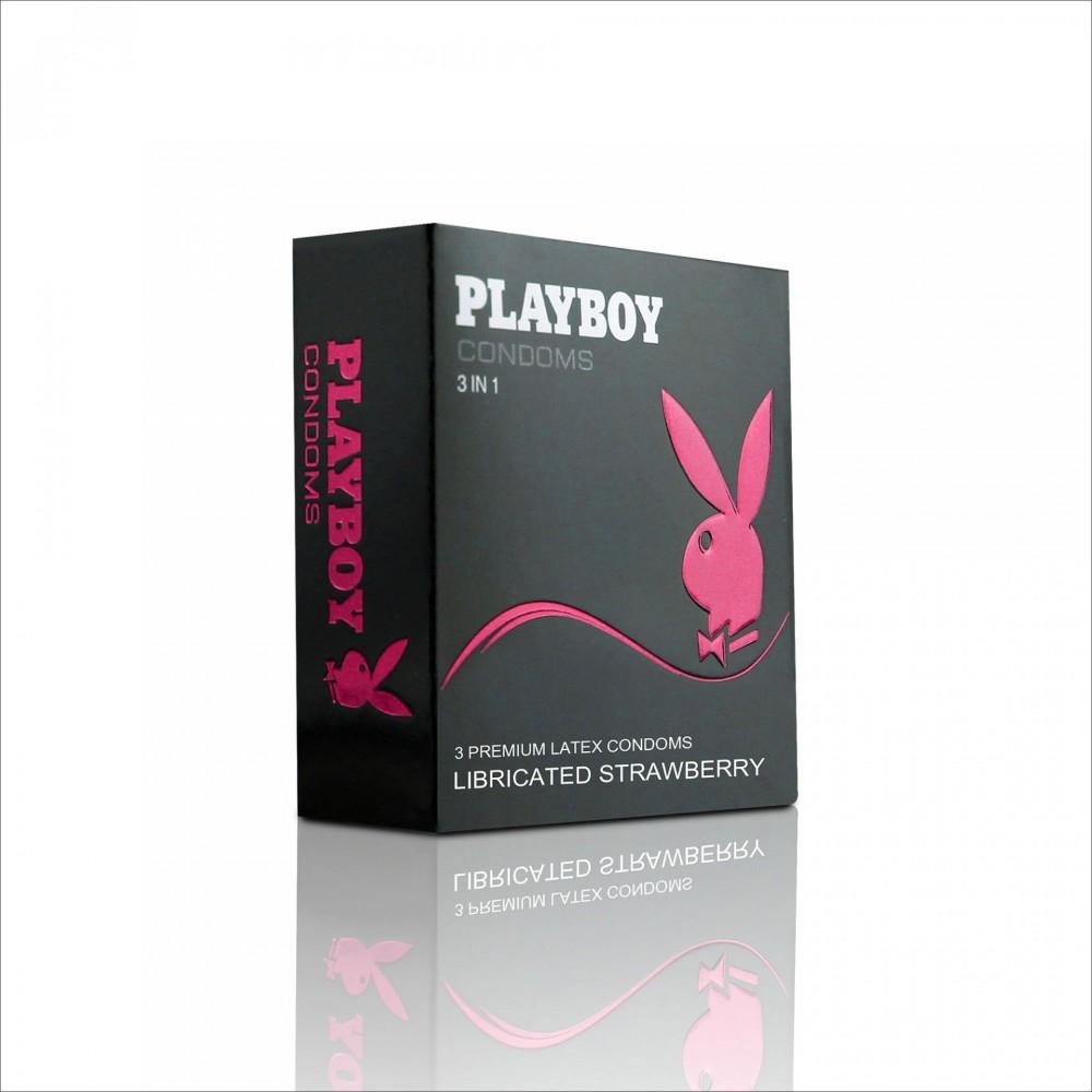 Бэлгэвч  PlayBoy Гүзээлзгэнэтэй, 3 ширхэгтэй