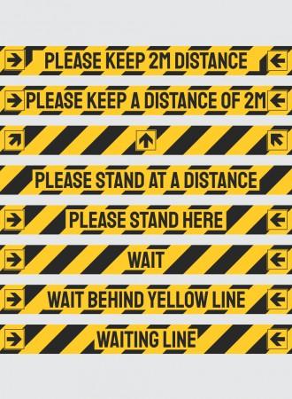 COVD-19 floor line