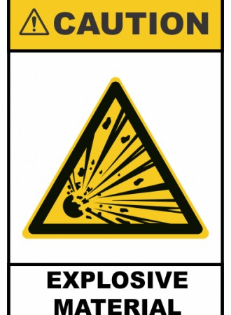 Explosive material sign