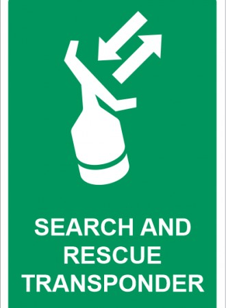 Search and rescue transponder sign