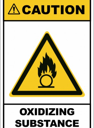 Oxidizing substance sign