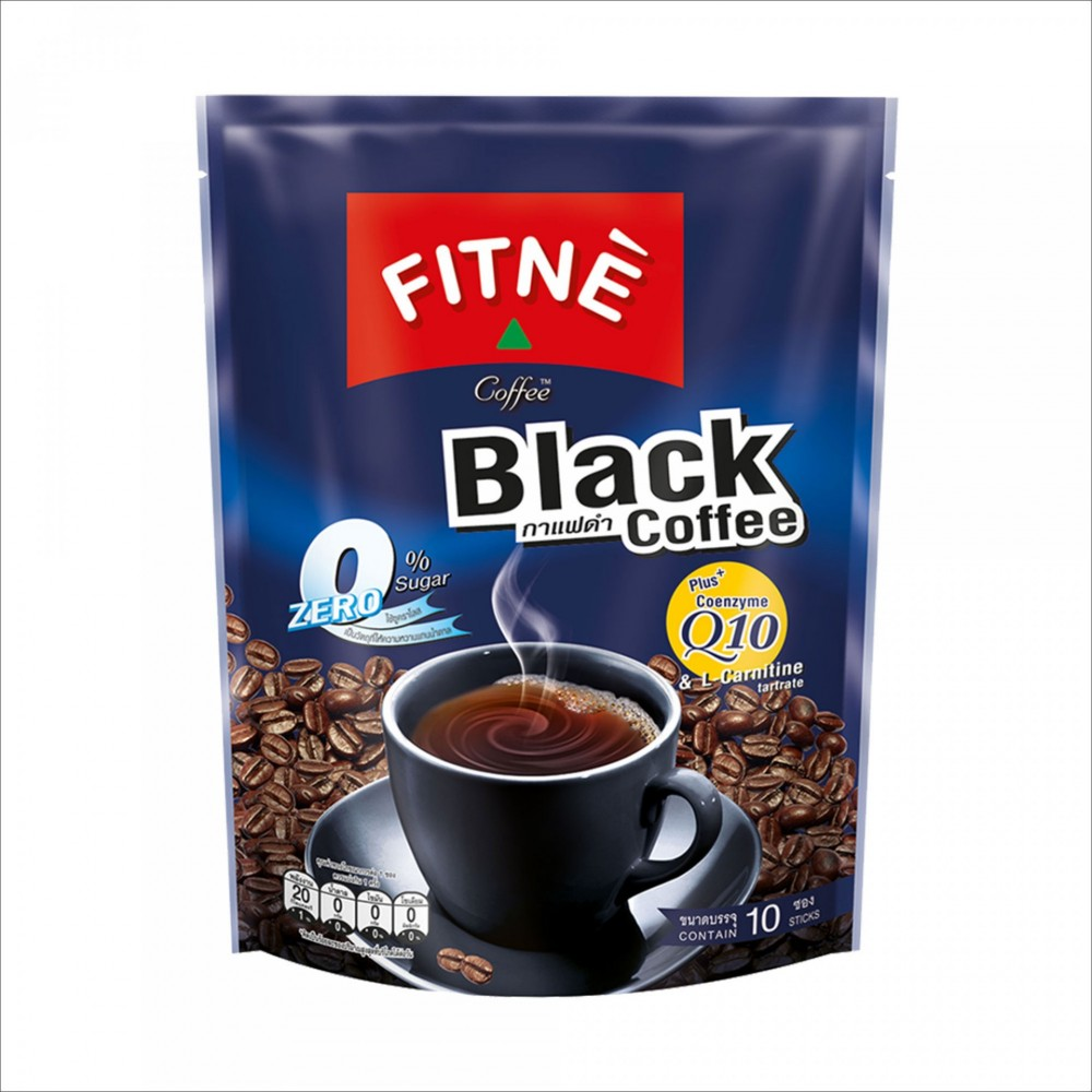 FITNE Coffee Black Q10 LCarnitine 50g №10