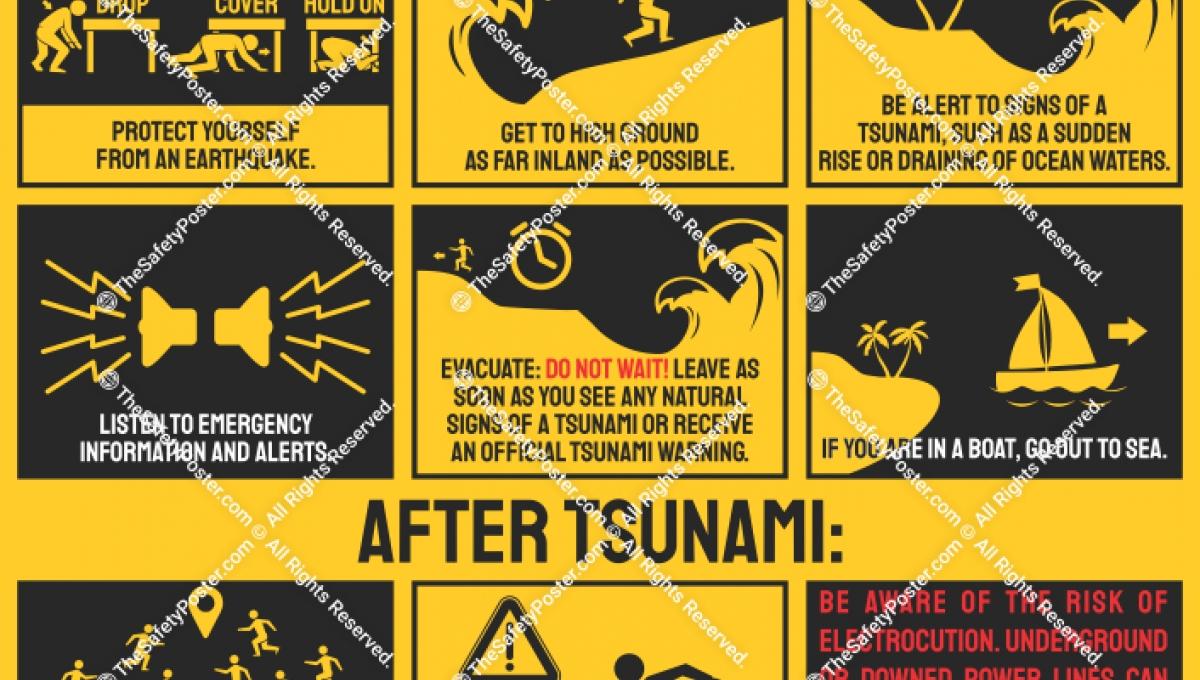 tsunami safety poster tsunami safety hsct llc