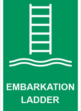 Embarkation ladder sign