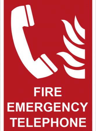 Fire emergency telephone sign