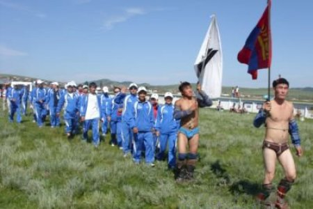 Traditional wrestling competition held at tavantolgoi