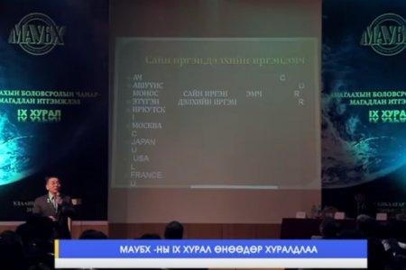 МАУБХ-ны хурлын ТВ бичлэг