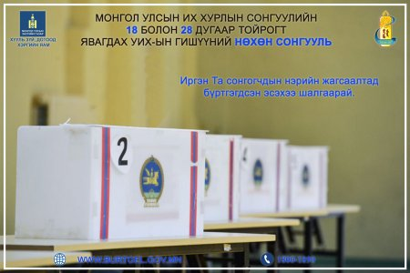 By-elections of members of the State Great Hural in the 18th and 28th electoral districts of the State Great Hural of Mongolia