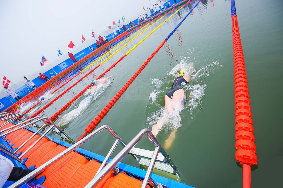 Mongolian teen athlete wins International Winter Swimming World Cup