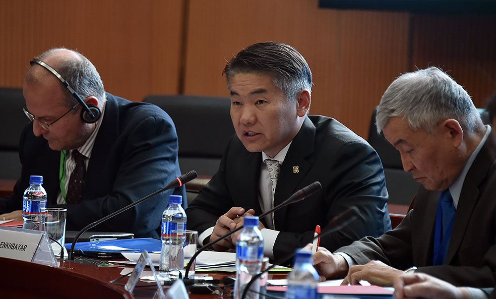 """""""Зүүн хойд Азийн аюулгүй байдал"""" сэдэвт уулзалт, ярилцлагад оролцож үг хэлэв."""