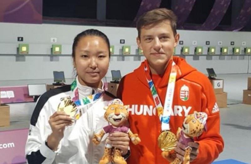 Залуучуудын олимпийн буудлагын төрөлд АЛТАН медаль хүртлээ