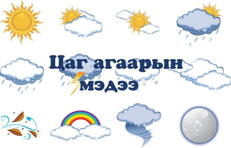Энэ сарын 29-нөөс есдүгээр сарын 2-ныг хүртэлх цаг агаарын урьдчилсан төлөв