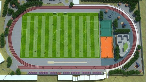 Олон улсын стандартад нийцсэн хөлбөмбөгийн талбайтай болно
