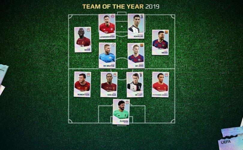 2019 оны Аваргуудын лигийн мөрөөдлийн баг тодорлоо