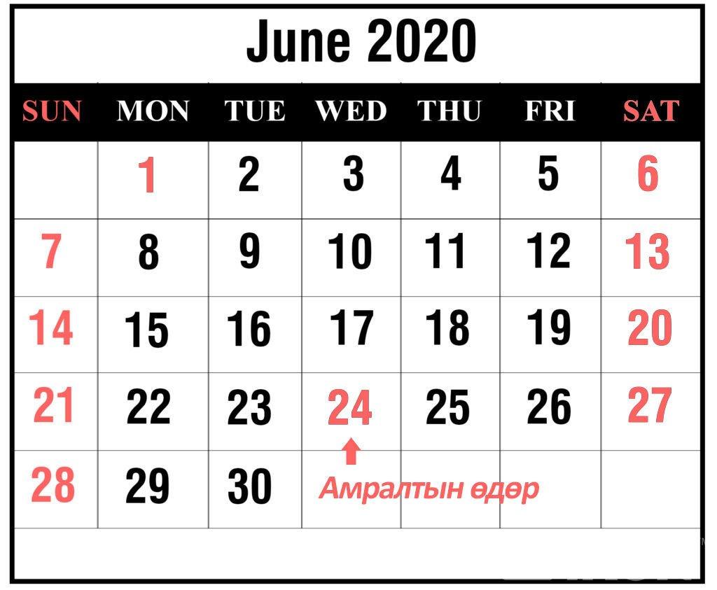 СОНГУУЛЬ 2020: Зургаадугаар сарын 24-нд бүх нийтээрээ амарна