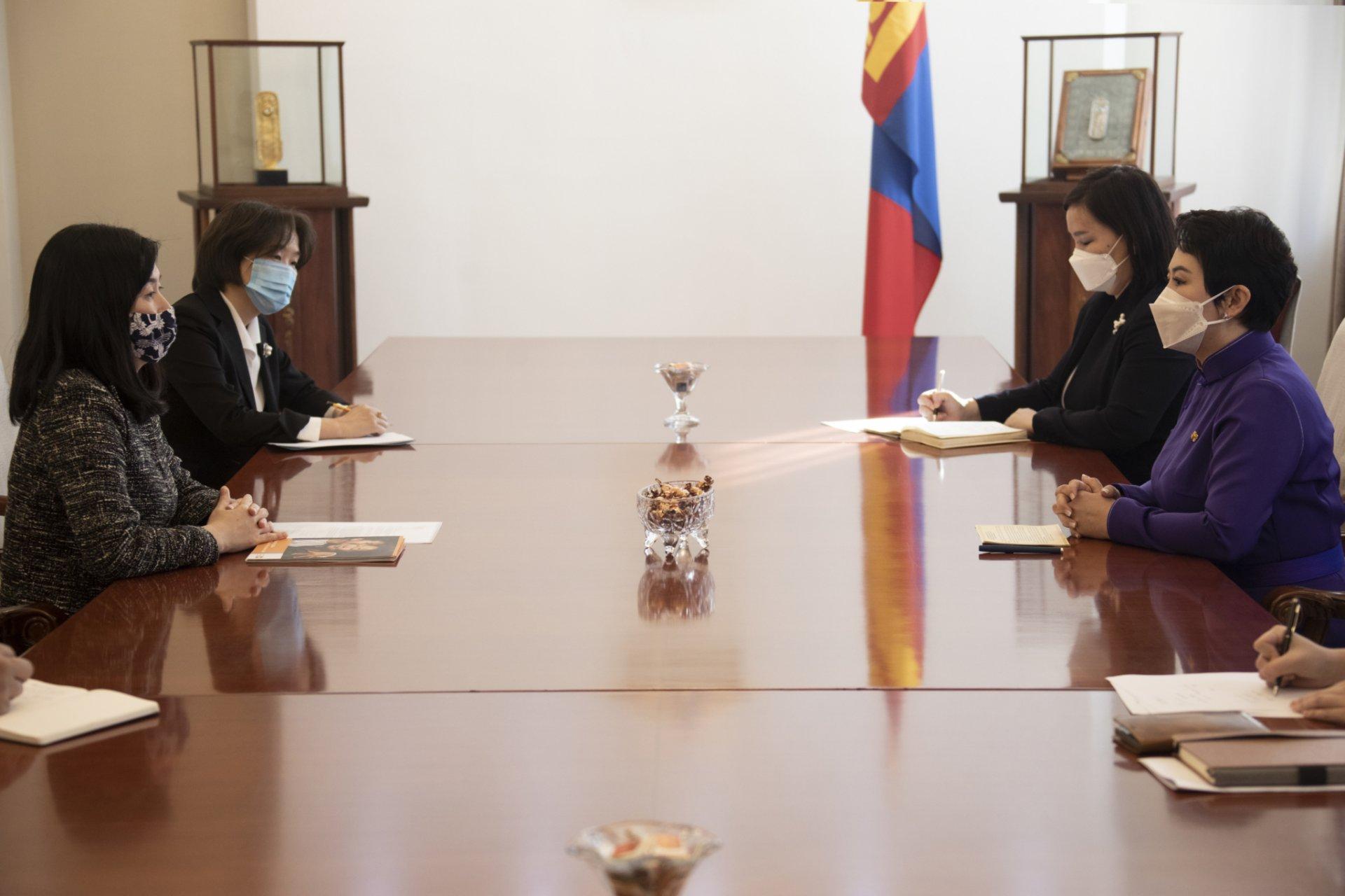 НҮБ-ын Хүн амын сангийн Монгол Улс дахь албаны даргыг хүлээн авч уулзав