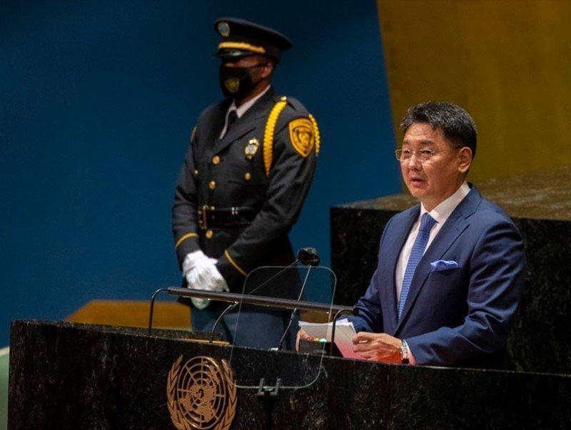 Ерөнхийлөгч У.Хүрэлсүх НҮБ-ын Ерөнхий Ассамблейн 76 дугаар чуулганы Ерөнхий санал шүүмжлэлд үг хэллээ
