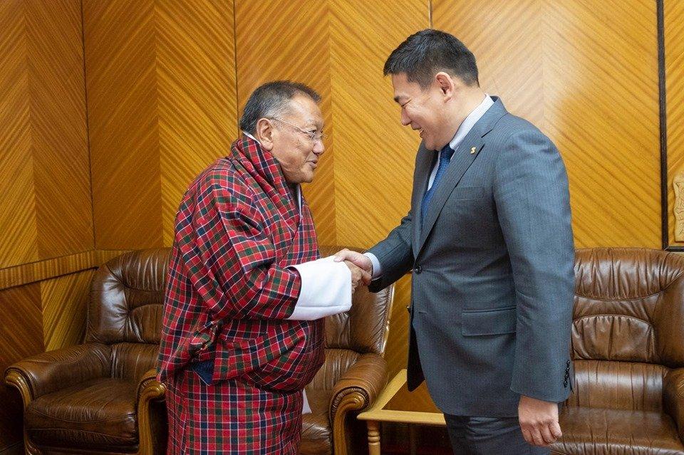 Бутаны Хаант Улсын Дотоод хэрэг, соёлын сайд Шеруб Гелцен Монгол Улсад айлчилж байна