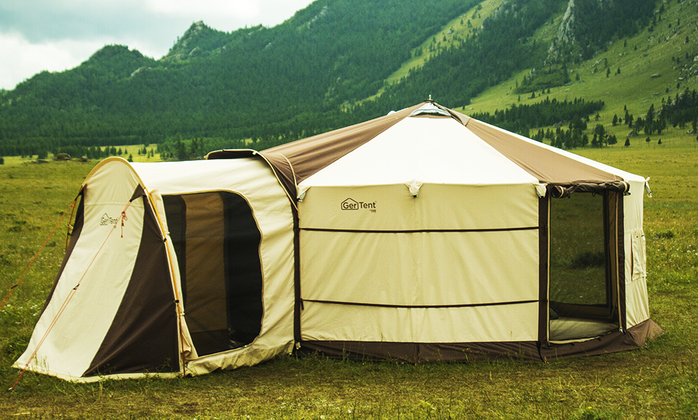 GerTent with front awning
