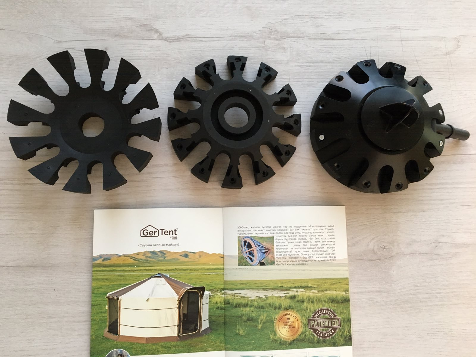GerTent's top rubber mould is ready to make mass production