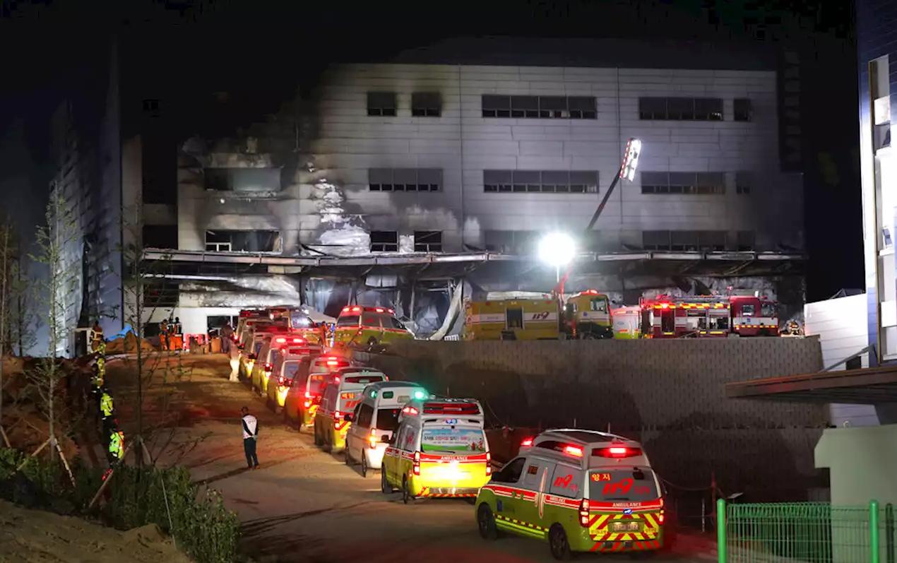 Өмнөд Солонгост барилга дээр гал гарсны улмаас 38 хүн амь үрэгджээ