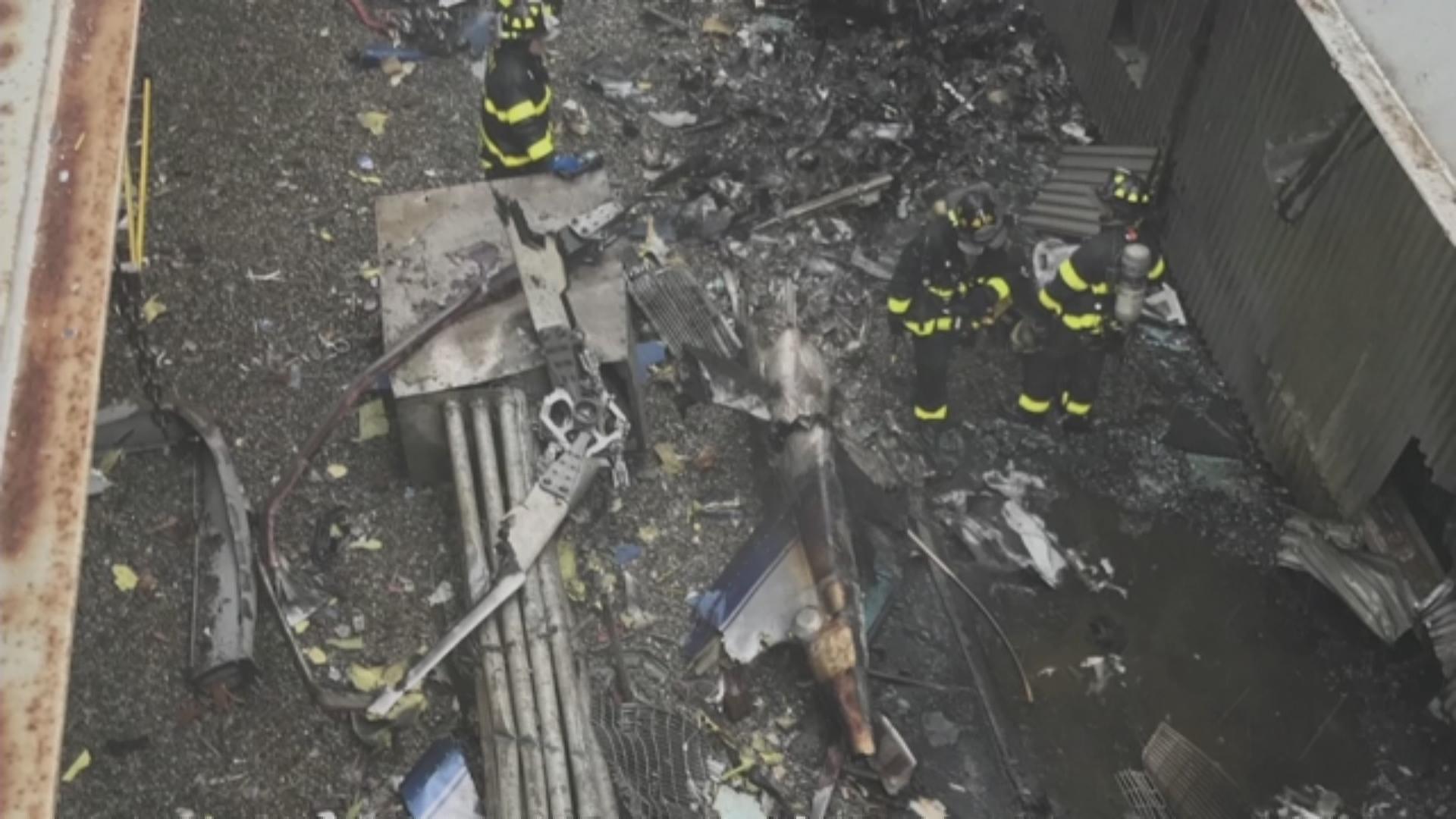 Нью-Йорк хотын барилга дээр нисдэг тэрэг осолджээ