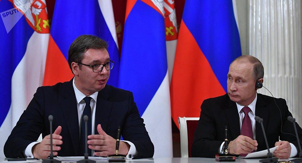 ОХУ-ын ерөнхийлөгч В.Путин Серби улсын ерөнхийлөгчийг хүлээн авч уулзлаа