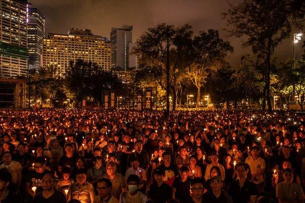 Хонконгт Тяньаньмэний талбайн жагсаалын үеэр амиа алдсан иргэдэд хүндэтгэл үзүүлэх зорилготой тайван жагсаалыг хориглолоо